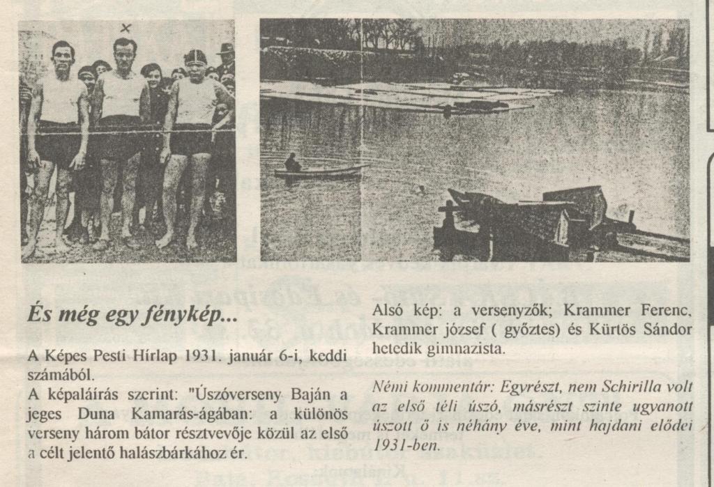 Uszoverseny 1931.01.06.