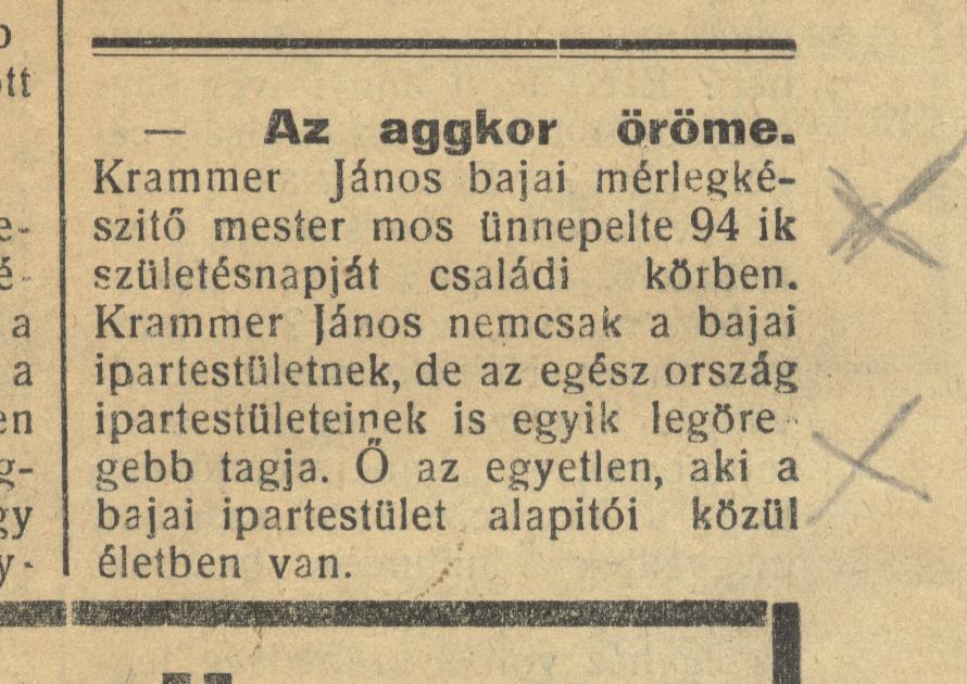 Legidosebb Krammer 1936.